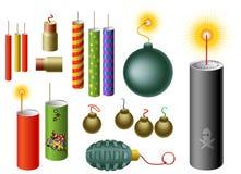 Set of Firecrackers vector illustration