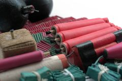 Set of firecrackers Stock Images
