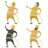 Set of firemans Stock Photo