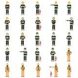 Set of firemen Royalty Free Stock Image