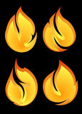 Set of 4 fires Stock Image