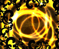 Set of 6 fires Royalty Free Stock Photo