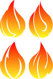 Set of 4 fires Royalty Free Stock Photo