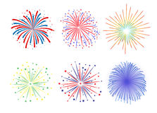 Set Firework design on white background. Vector illustration Royalty Free Stock Photo