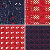 Set of firework pattern seamless Royalty Free Stock Photo