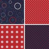 Set of firework pattern seamless Royalty Free Stock Photo