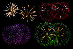 Set of fireworks Royalty Free Stock Image
