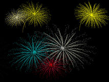 Set of fireworks Royalty Free Stock Photos
