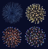Set of fireworks Royalty Free Stock Photography