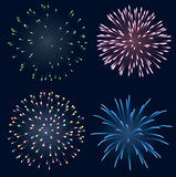 Set of fireworks Royalty Free Stock Photo