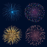 Set of fireworks Stock Image