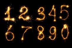 Set fireworks figure Stock Photos