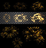 Set of  fireworks Royalty Free Stock Images