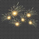 Set of Fireworks on isolated background. Vector illustration. Set of Fireworks  on isolated background. Vector illustration Stock Photos