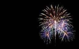 Set of fireworks isolated on black background royalty free stock photo
