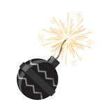 Set of Fireworks. Pyrotechnic Devices for Festival. Fireworks icon isolated on white vector illustration. Low explosive pyrotechnic device used for entertainment Royalty Free Stock Photography