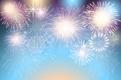 Set of   fireworks on a transparent background. A set of   fireworks on a transparent background Royalty Free Stock Image