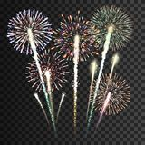 Set of  fireworks Stock Photo