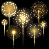 Set of fireworks. Vector illustration. Set of fireworks. Vector illustration Stock Photos