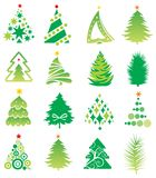 Set of firs. Royalty Free Stock Images