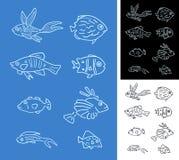 Set Fische Lizenzfreie Stockfotografie