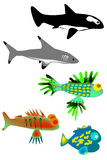 A set of fish Royalty Free Stock Image