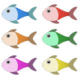 Set of Fish Royalty Free Stock Photos