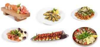 Set of fish dish Royalty Free Stock Photos