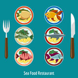 Set of fish dishes Stock Photography