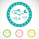 Set of  fish label. On white background Royalty Free Stock Photography