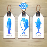 Set of fish seafood banners. Royalty Free Stock Photos