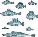 Set the fish Royalty Free Stock Photography