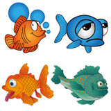 Set fish. On a white background Stock Image