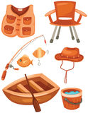 Set of fishing stock illustration