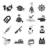 Set of Fishing Icons Royalty Free Stock Image