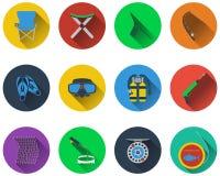 Set of fishing icons Stock Image