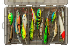 Set of fishing lures Royalty Free Stock Photos