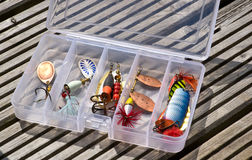 Set of fishing lures Royalty Free Stock Photo