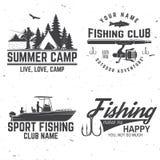 Set of fishing sport club bages. Vector illustration vector illustration