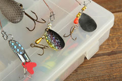 Set of fishing tackle Stock Photography