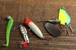 Set of fishing tackle Royalty Free Stock Photos