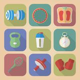 Set of Fitnes Icons Royalty Free Stock Image