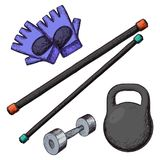 Home gym equipment Stock Photography
