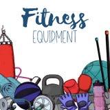 Home gym equipment Stock Image
