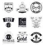 Set of fitness emblems Stock Photo