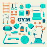 Set of fitness equipment. Stock Image