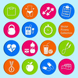 Set of fitness and health life icons. Vector set of fitness and health life icons Royalty Free Stock Photos