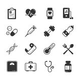 Set of fitness icons Royalty Free Stock Photo