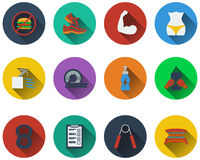 Set of fitness icons Stock Photo