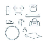 Set of Fitness Icons Vector Illustration Stock Photos